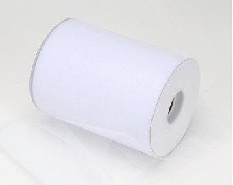 "White Tulle Roll 6""x100 Yards - 300 Feet-  WhiteTulle Spool-Tulle Fabric-Tutu Tulle-  White  Wedding Tulle"