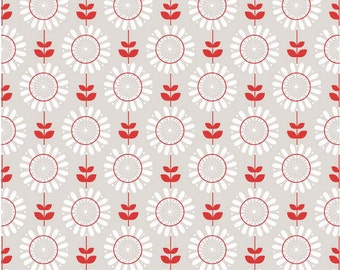 Twice as Nice by The Quilted Fish Riley Blake Fabric - Gray Garden - Half Yard Cut - Cotton Fabric