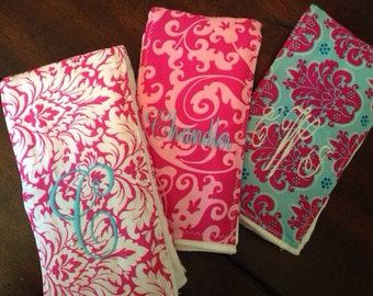 MONOGRAMMING ONLY LISTING - Burp Cloth Set Add On