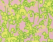 Lilly  Pulitzer fabric Hoppin Down the Bunny Trail 14 X 18.5 inches