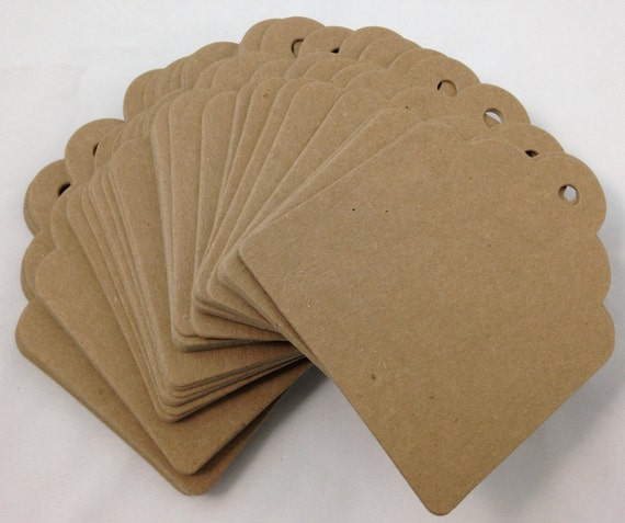 Large chipboard tags kraft place cards escort