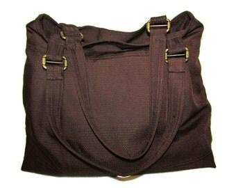87- bag, purse, dark brown, handmade