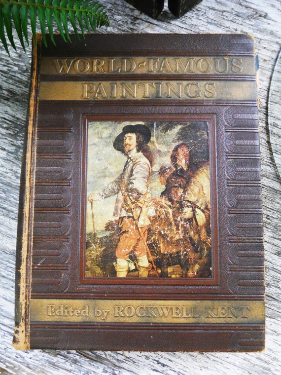 Famous World Famous Young Actresses: Vintage 1939 World Famous Paintings Book Rockwell Kent 1st