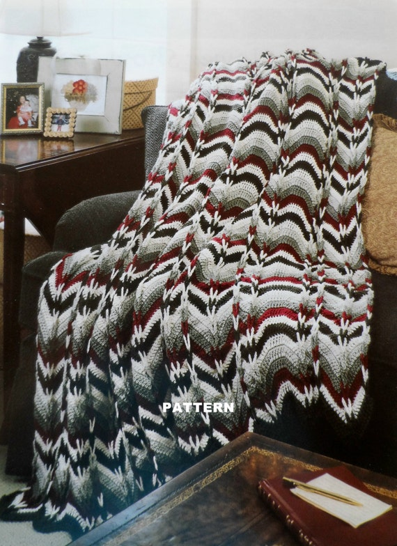 Crochet Patterns Navajo Afghan : Crochet Afghan Pattern NAVAJO BARGELLO by PatsCraftsShop on Etsy