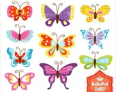10 Butterfly Clip Art ---- Personal and Small Commercial Use ---- BB 0324