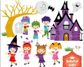 Buy 2 Get 2 Free ---- Halloween Kids ---- Personal and Small Commercial Use ---- BB 0454