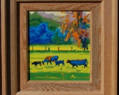 "Frame Hand Made by Bertram Poole 16""x14"" (to fit painting 10""x8"") See under ""Hand Made Furniture"" Section for more options."