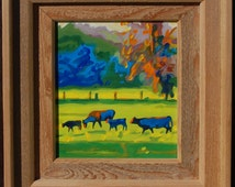 """Frame Hand Made by Bertram Poole 16""""x14"""" (to fit painting 10""""x8"""") See under """"Hand Made Furniture"""" Section for more options."""