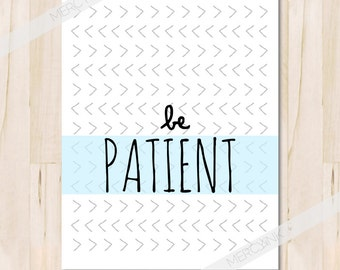 Be Patient Fruit Of The Spirit Inspirational Faith