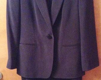 Black silk suit, Liz Claiborne, 2 pc with long skirt.