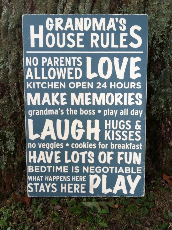 16x24 Grandma's House Rules