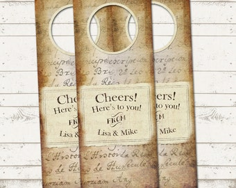 Custom Wine Tags for any Occasion or Event - Wedding, New Baby, Birthday - Vintage Inspired - Gift Tag