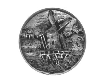 2 Windmill 11/16 inch ( 17 mm ) Pewter Buttons