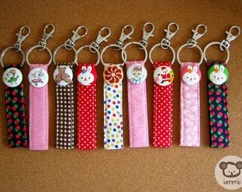 Pink, Rabbit, Keychain, key chain, poka dot, dots, girl, kid, dancing bunny, bunny, decoration, kawaii, strap, book, ballet, cartoon, cute