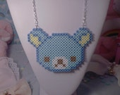 Blue Rilakkuma Necklace