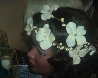 Woodland Tiara Crown Wreath Halo Headband Bridal Wedding Head Piece