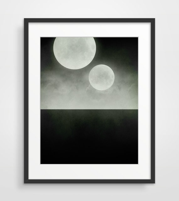 Black and White Art, Geek Art, Minimalist Science Fiction Poster, Surreal Art, Space Art