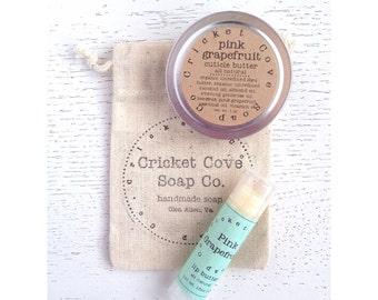 Lip Butter Set - Salve Gift Set - Healing Gift Set - Lip Balm - Cuticle Cream