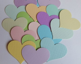 50 Pastel Hearts,Wedding,Baby,Confetti,Party Decor,Confetti,Embellishments,Mix Media