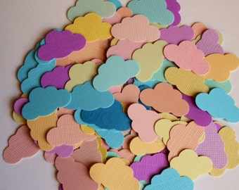 100 Pastel Clouds,Embellishment,Die Cut,Punch,Confetti,Cardmaking,Scrapbooking