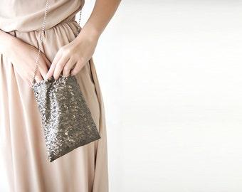 Sequin sparkling Bronze Handbag 4002