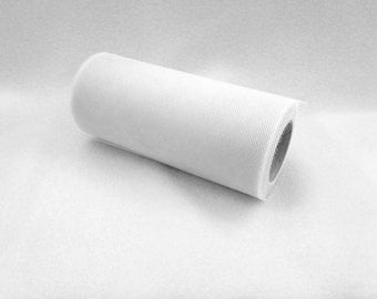 6 Inch Tulle Spool 25 Yards White- 1