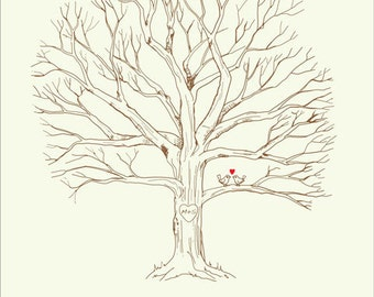 wedding tree guest book free template - the gallery for fingerprint tree template baby shower