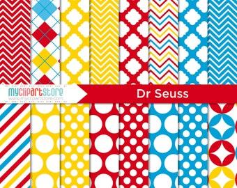 Digital Paper - Dr Suess - Instant Download