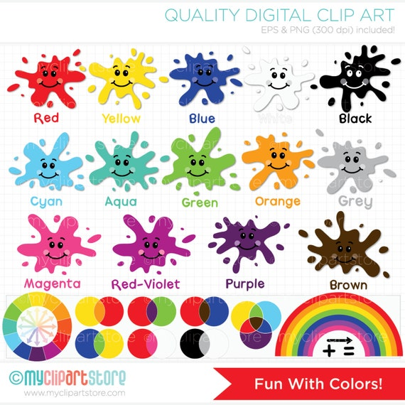 Clipart Fun With Colors Back To School / Educational