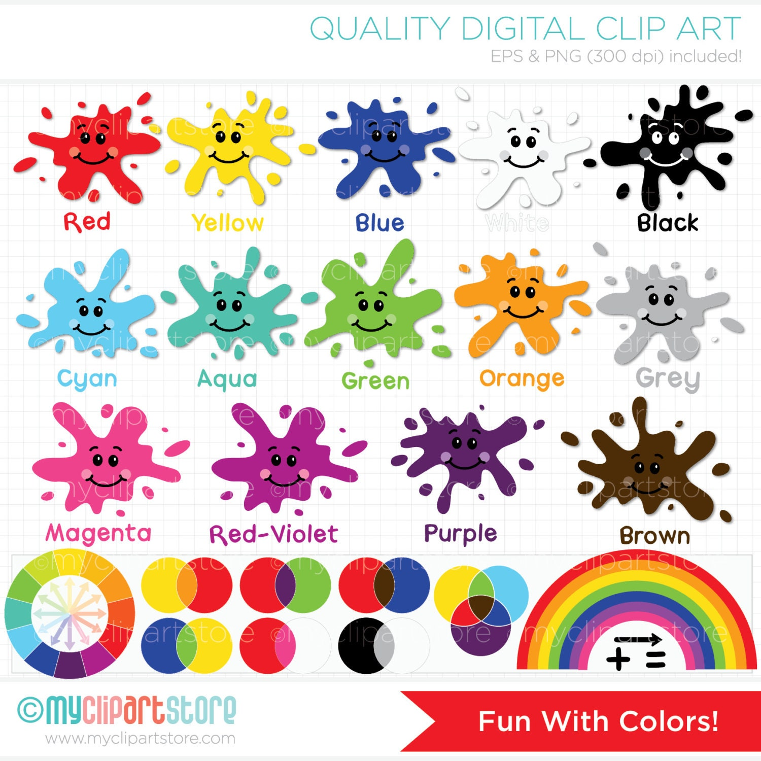 Clipart Fun With Colors Back to School / by MyClipArtStore