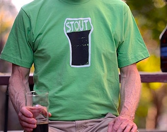 Men's Stout Beer Tshirt, Stout Tee, Saint Patricks Day Tshirt