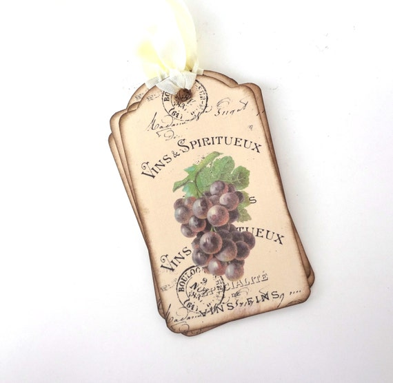 50 Wine Lovers Gift Tags for Wine Enthusiasts Potter Style  New in Box!