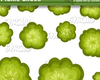 Pickle Slices Clip Art Set