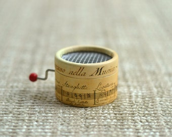 Music Box Musical Staff. Hand cranked. Personalized with the song you choose from the list.