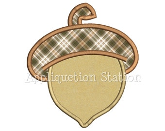 Acorn Applique Machine Embroidery Design thanksgiving autumn October fall INSTANT DOWNLOAD
