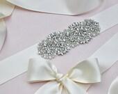 Ready To Ship - FAST turnaround time - Swarovski Rhinestone Pearl Wedding Sash