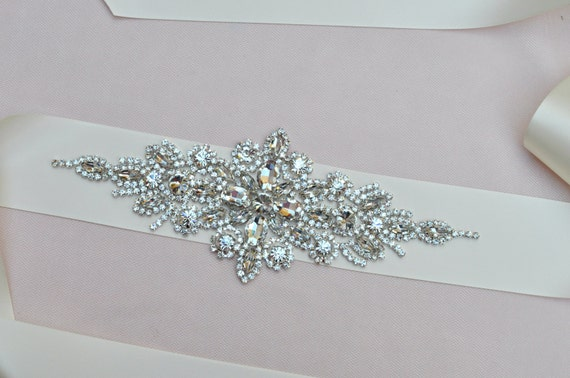 NEW Ready To Ship - Sash - Bridal crystal belt, rhinestone sash, bridal sash, bridal belt, vintage bridal sash