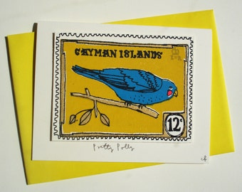parrot stamp card