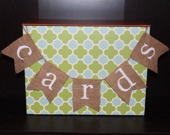 Cards Sign / Cards Banner / Wedding Cards Table Banner