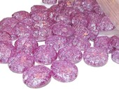 10 - 20mm Acrylic Blue Violet Faceted Crackle Beads 17mm