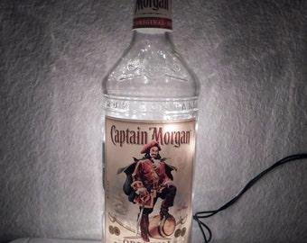 Captain Morgan Lighted Bottle Lamp Silver or Original