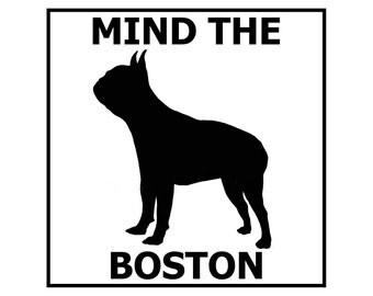 Mind the Boston ceramic door/gate sign tile
