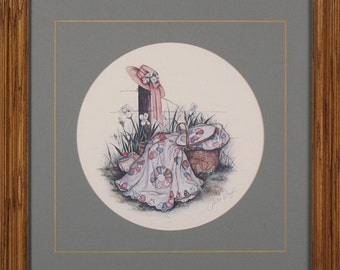 "Paula Vaughn Limited Edition Circular Print: ""Pink Ribbon"""
