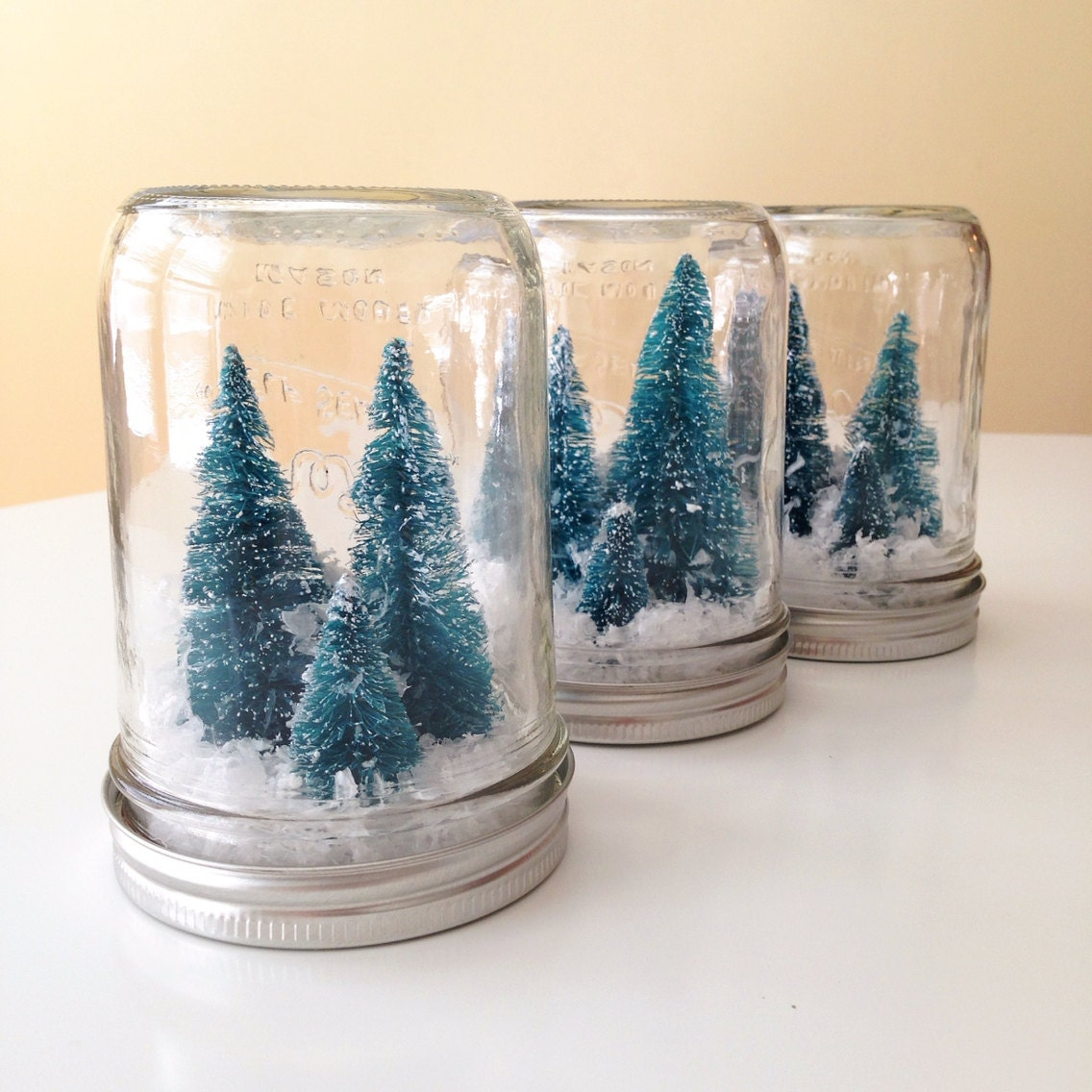Mason Jar Christmas Decorations: Winter Wonderland Mason Jar Christmas Decoration By AJarMpls