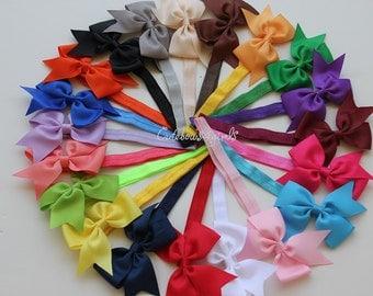 11 baby bow headband - girl headband -  toddler headband  - simple bow headband - cheap baby headband - headban - kid headband  - baby girl