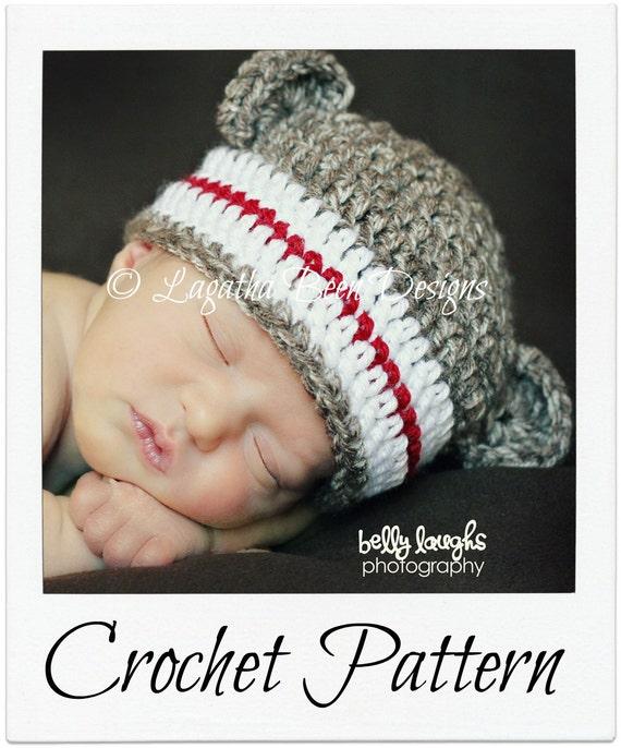 Monkey Beanie Hat Crochet Pattern : Plain and simple monkey hat crochet pattern 6 sizes for