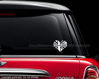 Iconic Mini Heart Decal for your Mini Cooper