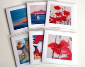Pack of 3 fine art gift cards 4x4 inches