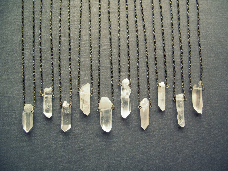raw quartz necklace crystal necklace healing crystal. Black Bedroom Furniture Sets. Home Design Ideas