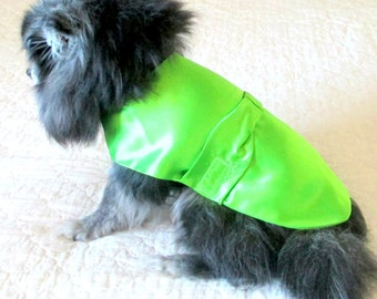 Small Dog Party Dress, Formal Dog Clothes, Made to Order,  Satin Bridesmaids with Bow, Yorkie Chihuahua